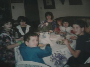 One of our famous holiday dinners... circa 1990-91