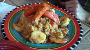 Cinco de Mayo Seafood Paella...totally not local, but so good. I have a serious weakness for scallops...and margaritas.