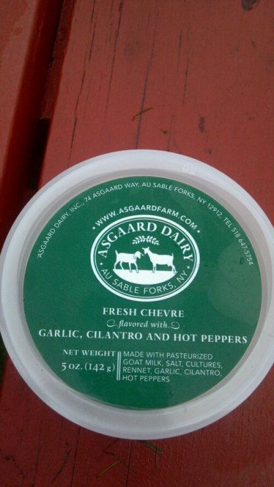 I have a weakness for goat cheese....