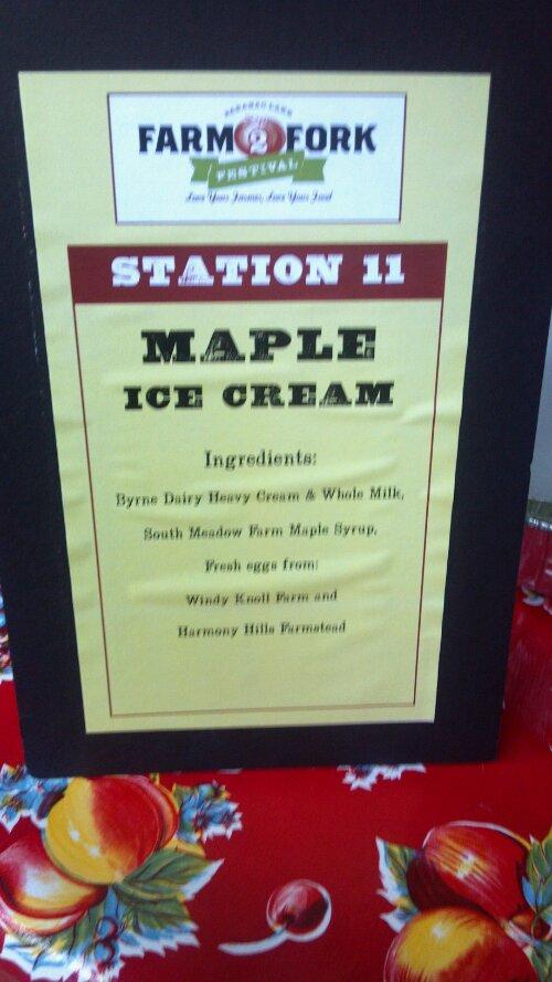 Speaking of ice cream....