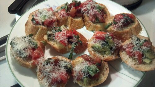 Bruschetta... under a mountain of parmesan