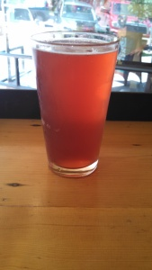 A Nice Cold Pint of Sour Cherry Kombucha
